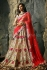 Beige and red color heavy designer bridal lehenga choli
