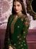 Green color straight cut salwar kameez 10062