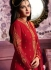 Red color straight cut salwar kameez 10063