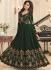 Shamita Shetty Green georgette wedding wear anarkali 8035
