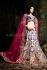 Cream and blue heavy designer bridal lehenga choli