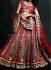 Maroon velvet heavy designer bridal lehenga choli