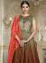 Multi color barfi silk wedding wear anarkali 3002