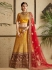 Mustuard satin wedding lehenga choli 1302