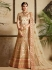 Cream satin wedding lehenga choli 1304