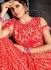 Cream net net wedding lehenga choli 4991