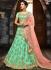 Green silk net wedding lehenga choli 4994
