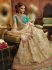 Beige Organza wedding wear lehenga choli 10652