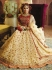 Cream Organza wedding wear lehenga choli 10654