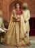 Cream Organza wedding wear lehenga choli 10654