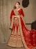 Red satin silk Indian Wedding lehenga choli 8003