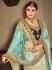 sky blue satin silk Indian Wedding lehenga choli 8004