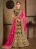 Green Satin Indian Wedding lehenga choli 8007
