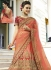 Peach heavy embroidered Indian wedding lehenga choli 13175
