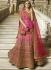 Pink heavy embroidered Indian wedding lehenga choli 13177