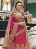 Pink heavy embroidered Indian wedding lehenga choli 13179