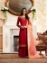 Red silk festive wear palazzo suit 15103