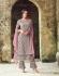 Grey heavy embroidered straight cut salwar kameez 53003