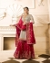 Drashti Dhami Beige Pink wedding sharara suit 2506