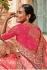 Pink pure banarasi silk wedding saree 2012