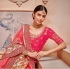Pink banarasi silk wedding saree 2013