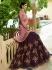 Wine pink silk Indian wedding lehenga choli 805