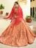 Peach pink silk Indian wedding lehenga choli 808