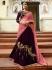 Wine pink silk Indian wedding lehenga choli 810