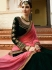 Green pink silk Indian wedding lehenga choli 811