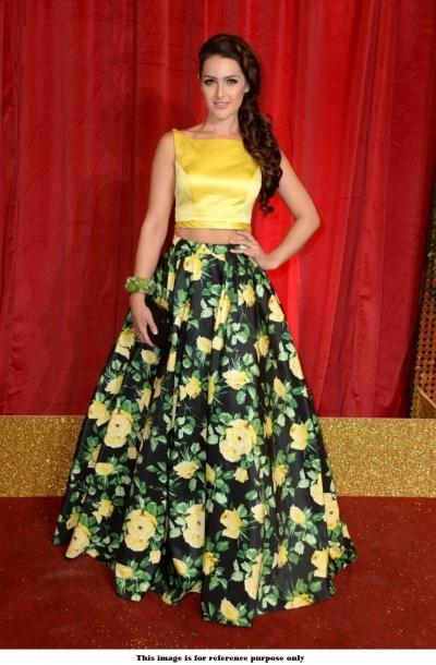 Bollywood Model Black and yellow floral lehenga choli