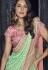 Green Color Lucknowi designer party wear saree