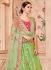 Pista green Banarasi silk wedding lehenga choli