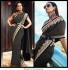 Bollywood Sabyasachi Inspired Blue and Green georgette saree