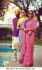 Bollywood Sabyasachi Inspired Pink and Purple georgette saree