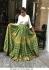 Bollywood Tina Dutta Wihte and green banglori silk lehenga