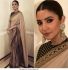 Bollywood Sabyasachi Inspired Anushka Sharma Cream silk saree