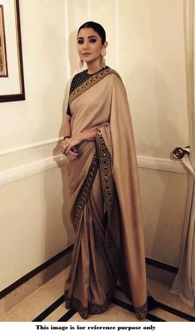 Bollywood Sabyasachi Inspired Anushka Sharma Cream silk saree