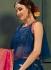 Blue color silk Indian wedding lehenga choli 605
