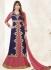 Bipasha Basu Blue and Pink Georgette  Lehenga Dress with Duppatta