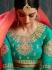 Peach pure banarasi silk Indian wedding lehenga choli 62003