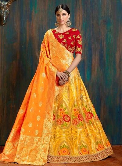 aa0f799b4e yellow-and-red-pure-banarasi-silk-Indian-wedding-lehenga-choli-62004.jpg