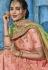Light pink silk Indian wedding lehenga choli 1003