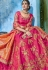 Pink silk Indian wedding lehenga choli 1004
