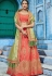 Orange silk Indian wedding lehenga choli 1007