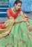Green and red silk Indian wedding lehenga choli 1011