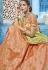 Peach silk Indian wedding lehenga choli 1012