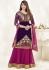 Bipasha Basu Purple and Pink Georgette  Lehenga Dress