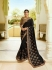 Black silk Indian wedding wear saree 5004