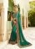 Green silk Indian wedding wear saree 5006