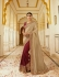 Maroon chikoo silk Indian wedding wear saree 5007